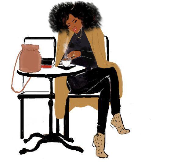 Afrogirl X Book X Coffee